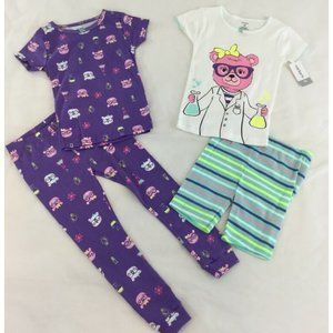 Carter's 4-Piece Pajamas Girls 4T Shorts Pants